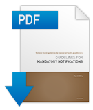 Guidelines for mandatory notifications PDF cover.