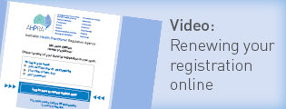 Video: Renewing your registration online.